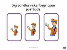 Digibord - Rekenbegrippen Post Office, Activities, School, Projects, Halloween, Monsters, Stage, Website, Anchor