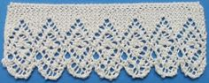 This beautiful is Normandy Lace from an 1884 Knitted Lace Samp. This beautiful is Normandy Lace from an 1884 Knitted Lace Sample Book. A chart is included at the site. Lace Knitting Patterns, Lace Patterns, Knitting Stitches, Hand Knitting, Stitch Patterns, Knit Edge, Knit Or Crochet, Filet Crochet, Knitting Projects