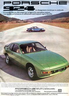 Publicité Porsche;Automobile octobre 1976.