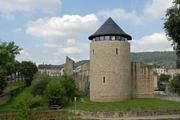 Rent a medieval tower to sleep in, in Echternach, Luxembourg.