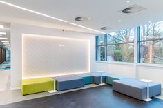 Waiting area Zebra Technologies' offices in London