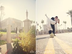 playing with light. mesa temple wedding.