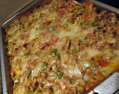 """More Please! Ground Turkey Casserole Recipe - Food.com **One reviewer said: """"I used gluten free noodles and only in half of the dish (I don't eat carbs while the rest of the family does). I adjusted the water to 1 1/2 cups b/c of the pasta amount. I used a diced fresh tomato instead of canned and 2 tsp of the seasoning salt. The meal was full of flavor and we will def be making this again!"""""""