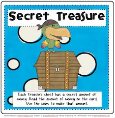 Here's a pirate-themed activity for counting money.