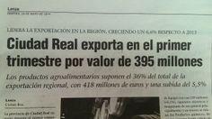 #CiudadReal exporta en el 1º Trimestre por valor de 395 millones € #noticia via @Lanzadigital