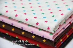 [ETSY - FREE SHIPPING NOW] K226 - little stars- cotton fabric - Half Yard ( 6 color to choose)  https://www.etsy.com/listing/155963720/k226-little-stars-cotton-fabric-half?ref=shop_home_active