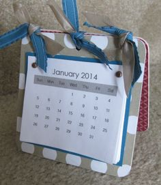 Cute coaster calendar. Easy and fun to make! Perfect for gifts.