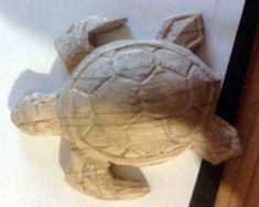 Easy Carved Wooden Turtle DIY : 3 Steps (with Pictures) - Instructables Wood Turtle, Tiki Statues, Coping Saw, Small Turtles, Wood Carving Designs, Bois Diy, Wooden Fish, Diy Pins, Wood Glue