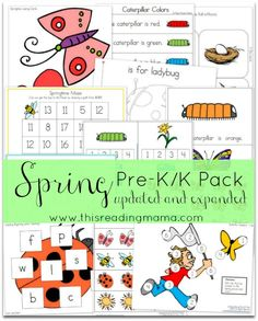 FREE Spring Pre-K/K Pack {Updated and Expanded}   This Reading Mama
