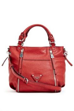 Presley Zipper Satchel | GUESS.com