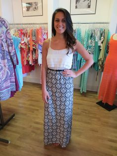 The Buzz Boutique — I'm Only Human Maxi Dress In White and Print