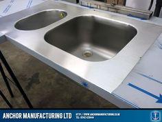 polished kitchen sink fabrication