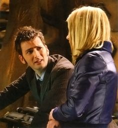 """Behind the scenes of The Stolen Earth / Journey's End (Part 1 of """" """"I've been at the pizza,"""" confesses David Tennant, returning to the Dalek Crucible after lunch."""" """"Four pieces,"""" exclaims Catherine Tate, """"and you're so. Doctor Who Rose, Rose And The Doctor, Doctor Who 10, 10th Doctor, Sci Fi Series, Billie Piper, Rose Tyler, Dalek, Time Lords"""