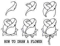 Flowers To Draw For Beginners | Daryl Hobson Artwork: How To Draw A Flower Step By Step