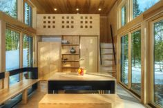 The E.D.G.E. cabin, designed by Revelations Architects/Builders is 518 sq. ft. but suitable for a small family to live in. E.D.G.E. stands for Experimental Dwelling for a Greener Environment. It's ...