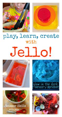 Super squishy sensory play using jelly :: sensory play with jello