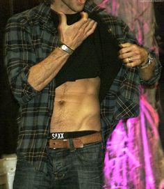 abs + hipbones + arms + treasure trail + underwear designed for big... = me dead. #BurCon2013 #JaredPadalecki #SAXXUnderwear