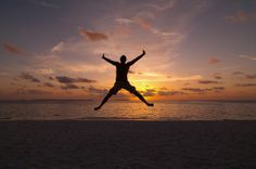 jumping against the sunset!