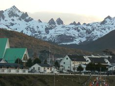 Extreme inhabitated location in Southern Hemisphere. Puerto Williams of Chile