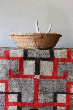 Vintage Southwestern Basket Native Handmade by GeronimosCollection