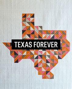 Texas Forever Pixelated Patchwork Quilt by Corinnesovey
