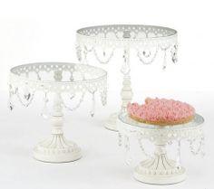 Elegant Jeweled Cake Stand Round Vintage Wedding
