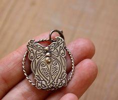 Etn, sterling silver celtic pendant