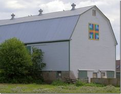 Double Irish Chain on the Redden barn, Southside Rd in Upper Stewiacke, Nova Scotia
