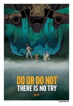 Zen Pencils; YODA: Do or do not  (note: april fools day post, written as if Yoda's an actual person. pretty awesome)