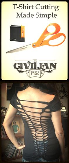 Click the image and check out our Tshirt Cutting Made Easy DIY.
