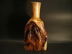 Black locust root vase by Ervin Horn