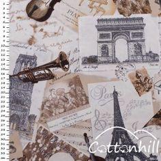 Tkanina Timeless Treasures PARIS JAZZ
