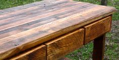 Kitchen Island With A Butcher Block Top Made From Reclaimed Barn Wood 28X64X36 on Etsy, $695.00