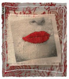 [CasaGiardino] ♛ Embroidered photo on canvas Embroidery Thread, Embroidery Applique, Cross Stitch Embroidery, Embroidery Designs, Fabric Manipulation, Diy Canvas, Textile Artists, Fabric Art, Fiber Art