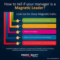 How to tell if your manager is a Magnetic Leader #Leadership #Infograpic #MagneticLeadership