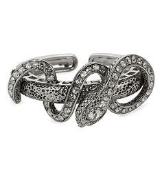 ROBERTO CAVALLI - Silver snake cuff | Selfridges.com