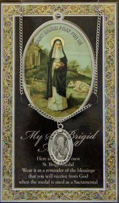 St. Brigid Medal in Pewter with Bi-Fold Prayer Card : HPM013