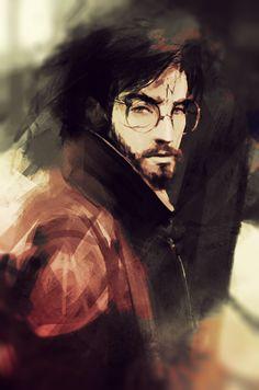 "justanotherdrarryblog: "" pokieart: "" The Chosen One. Happy birthday, Harry Potter :) "" Yesssssss. """