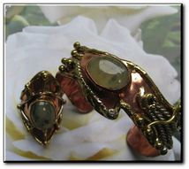 Green Moss Agate  - perfect fit - ring and bracelet