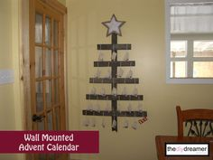 Wall Mounted Advent Calendar - Christmas in July! #christmas #xmas #july theDIYdreamer.com