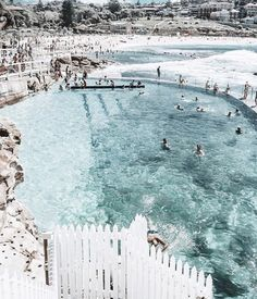 Oh Sydney Those ocean days feeling that gorgeous salty spray on our faces. This incredible coastline has our heart as the weather warms up here in Australia and we can smell the excitement of spring in the air Gorgeous pic of Sydneys Bronte Ocean Pool by Places To Travel, Travel Destinations, Places To Visit, Road Trip France, Beach Aesthetic, To Infinity And Beyond, Am Meer, Wanderlust Travel, Summer Vibes