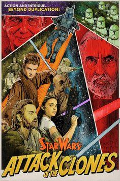 Image du film Star Wars: Episode II - Attack of the Clones (George Lucas) de J. Film Star Wars, Star Wars Poster, Star Wars Clone Wars, Star Wars Art, Lego Star Wars, Star Trek, Star Wars Clones, Images Star Wars, Star Wars Pictures