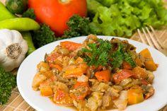 Κολοκύθα στο φούρνο με πατάτες και μυρωδικά Steamed Vegetables, Vegetable Stew, Cooking Ingredients, Stuffed Sweet Peppers, Mediterranean Recipes, Food Videos, Healthy Recipes, Healthy Foods, Tasty