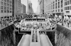 In the early 1940s, new subways were being constructed in Chicago and promotional postcards, such as the one above, were issued perhaps to garner interest or perhaps even to alleviate some of the concerns at the time. The World War II was underway and the United States entered the war in the same year that [...]