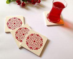 A personal favorite from my Etsy shop https://www.etsy.com/listing/252401410/mandala-design-coaster-ceramic-tile