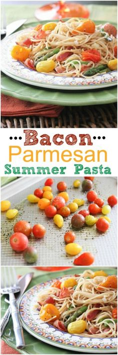 Bacon Parmesan Summer Pasta #pasta #dinner #recipe - Picky Palate