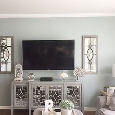 Garden District Mirror – Garden District Mirrors of New Orleans – Room Mirrors Simple Living Room Decor, Living Room Tv, Tv Stand Ideas For Living Room, Decor Around Tv, Decorating Around Tv, Above Tv Decor, Tv Console Decorating, Decorating Ideas, Decor Ideas