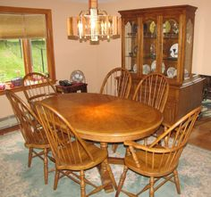 Thomasville oak dining room furniture