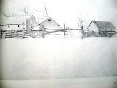 andrew wyeth drawings | Andrew Wyeth Dry Brush and Pencil Drawings 1968 by ArtandBookShop