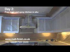 Matt Finish Kitchen Respraying, Restoration and Refurbishment Ellesmere Port Cheshire